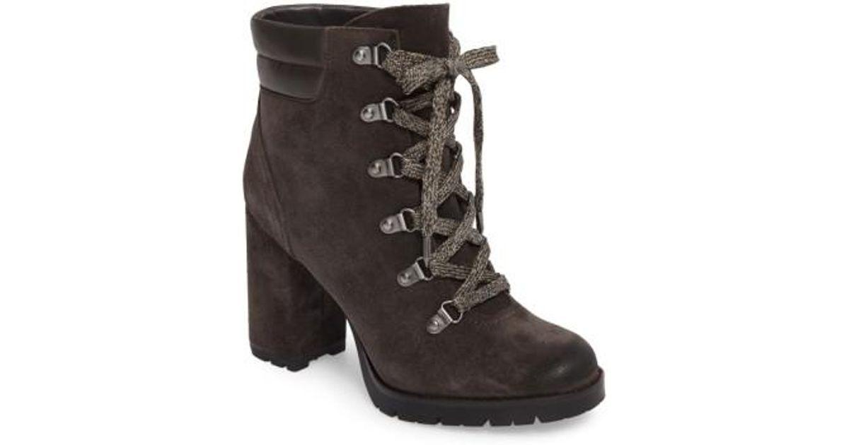 9fc73416b Lyst - Sam Edelman Carolena Lace-up Boot in Gray