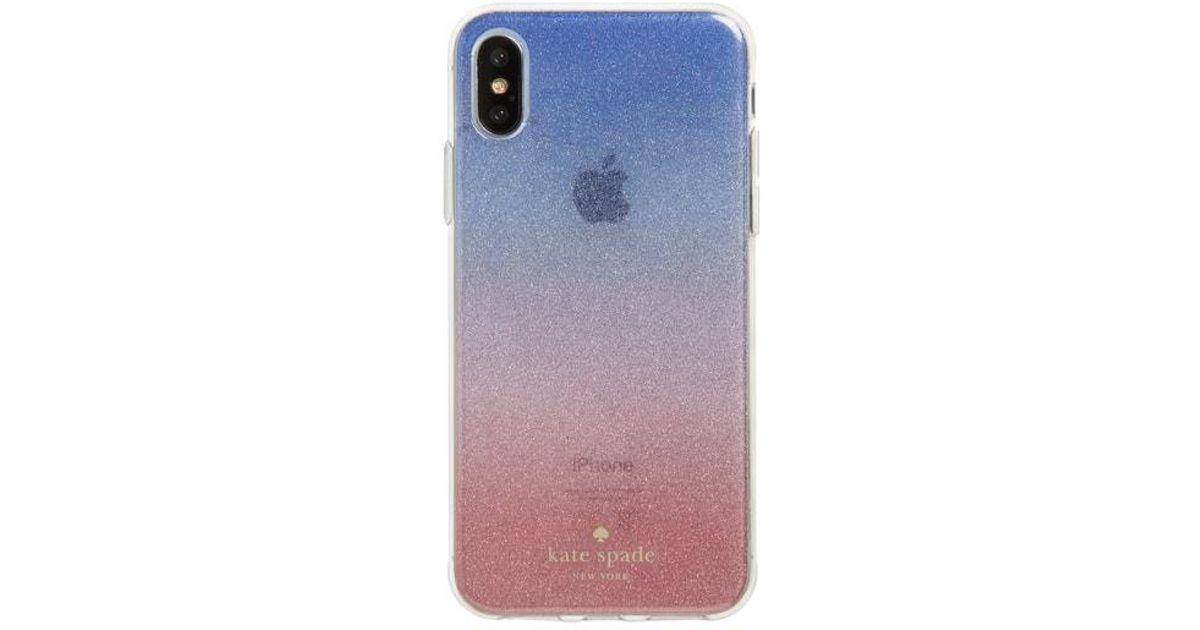03f4029094b8 Kate Spade Ombre Sunset Glitter Iphone X & Xs Case - in Blue - Lyst