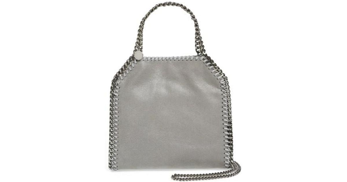 Lyst - Stella mccartney  mini Falabella - Shaggy Deer  Faux Leather Tote in  Gray 5d998f1eee2b8
