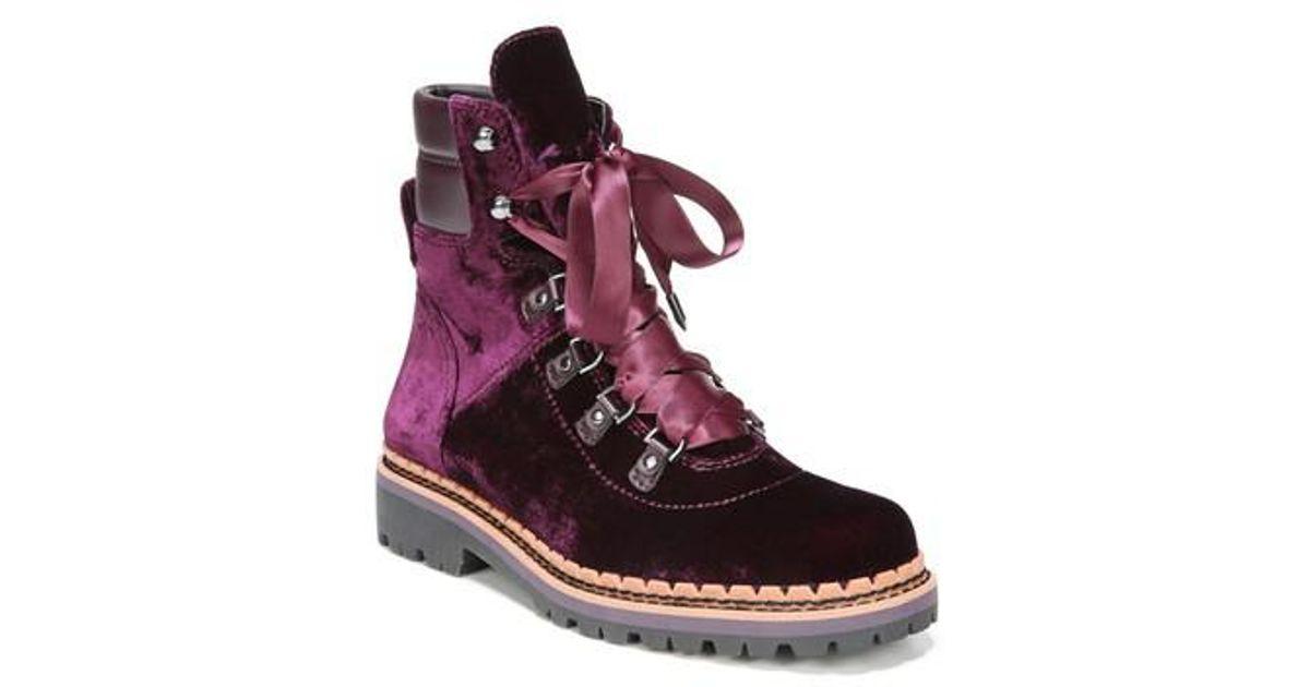 7334b4e296ce71 Lyst - Sam Edelman Browan Lace-up Boot in Purple
