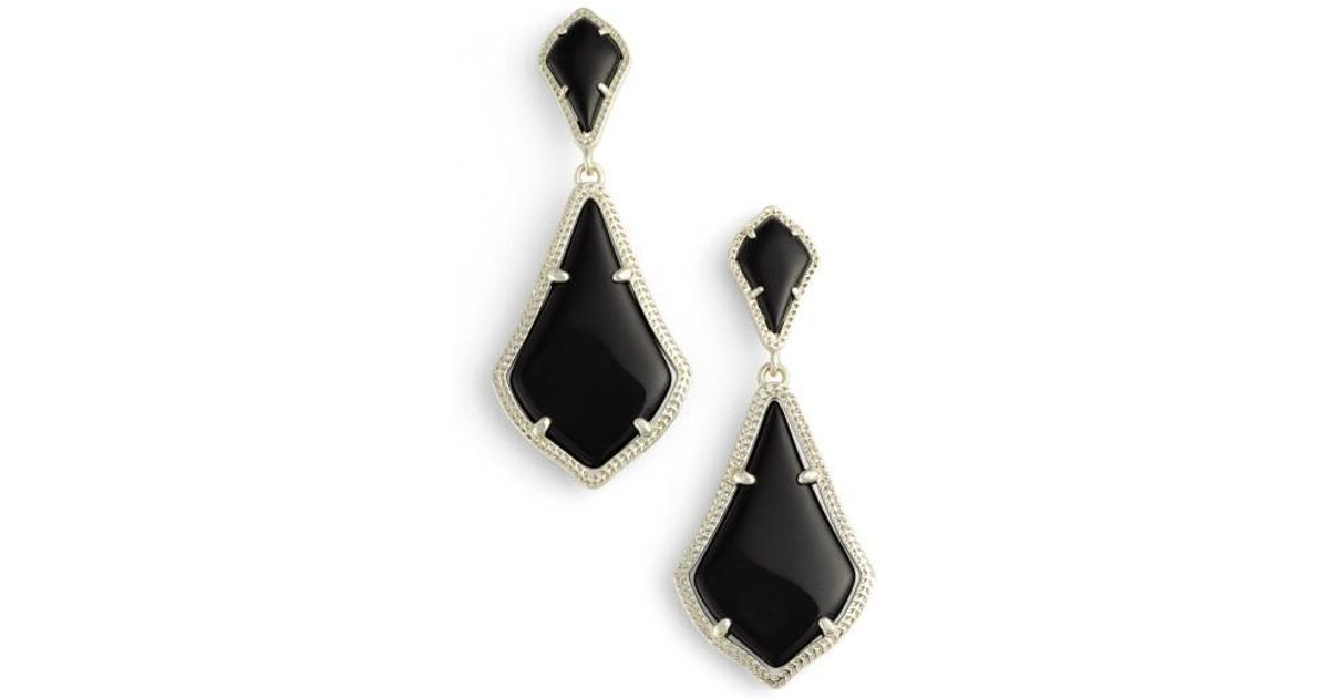 37a673dda1666 Kendra Scott Black 'alexa' Drop Earrings