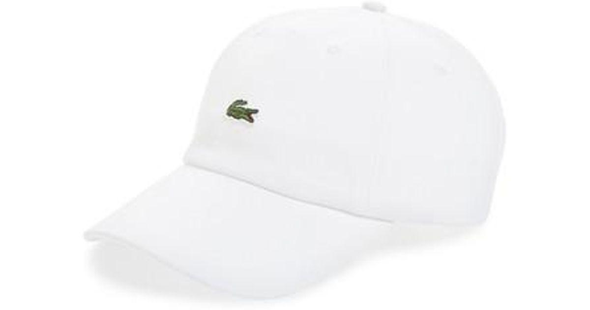 Lacoste - White Small Croc Baseball Cap for Men - Lyst 72508c64625
