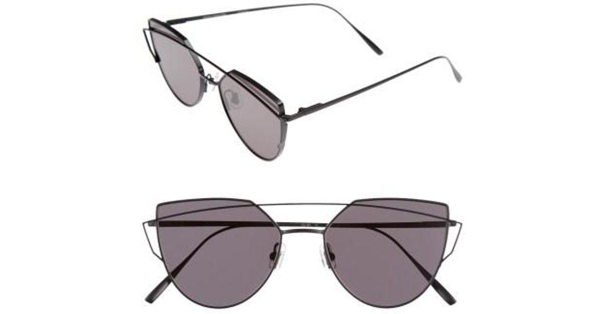 b7a0d3fbfe4a Lyst - Gentle Monster Love Punch 55mm Titanium Aviator Sunglasses