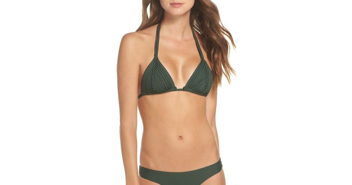 2ab19d8684 Lyst - Pilyq Isla Macrame Bikini Top in Green