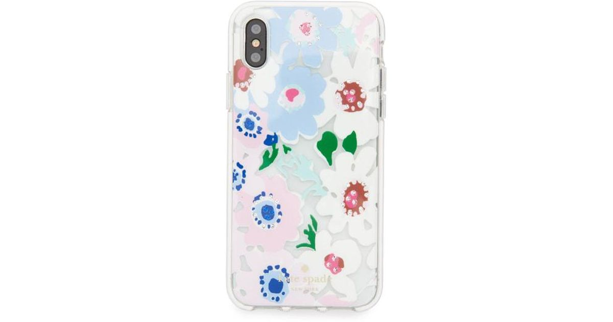 1268dd67b7 Lyst - Kate Spade Jewel Daisy Garden Iphone X & Xs Case -