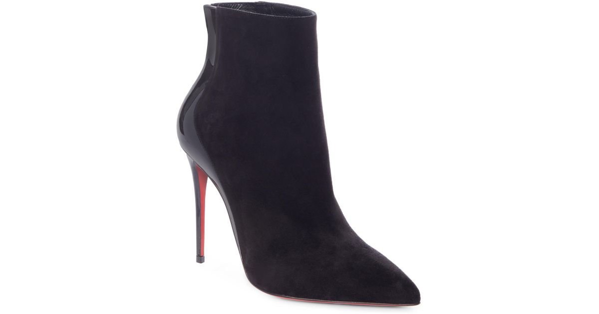 436d61c21fdb Lyst - Christian Louboutin Delicotte Pointy Toe Bootie in Black