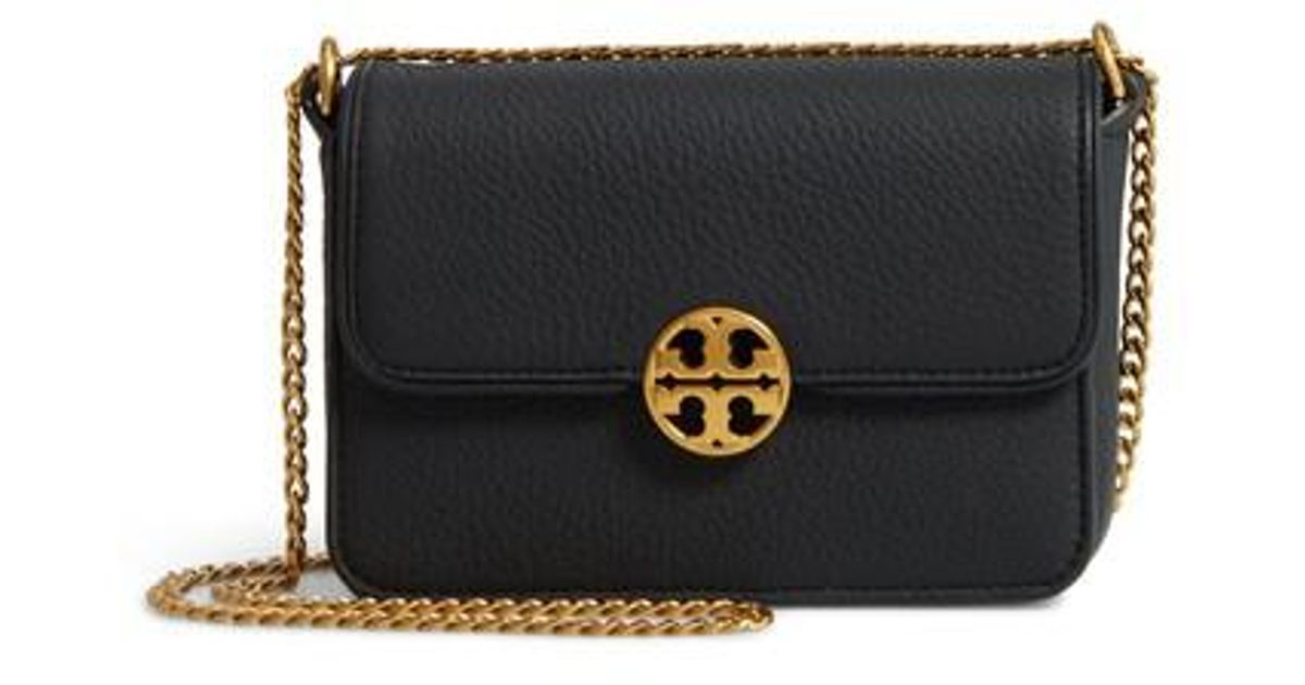 7110f87add01c Lyst - Tory Burch Mini Chelsea Leather Convertible Crossbody Bag in Black