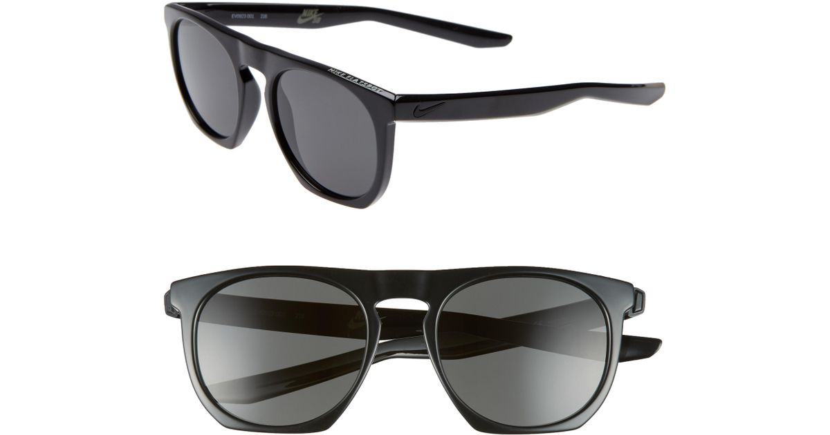 super popular b9b00 6ac03 Lyst - Nike Flatspot 52mm Flat Top Sunglasses in Black for Men
