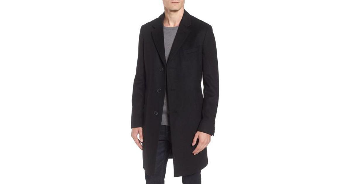 35234fc215ac Lyst - BOSS Boss Nye Wool   Cashmere Top Coat in Black for Men