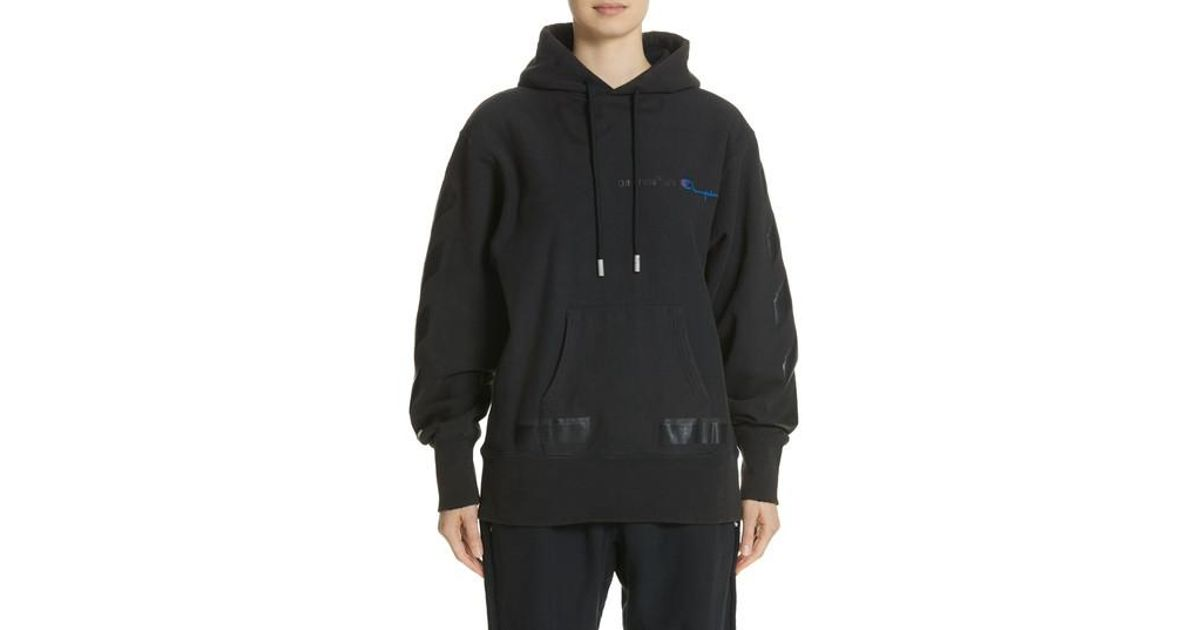 0f40fbea506e Lyst - Off-White c o Virgil Abloh X Champion Pullover Hoodie in Black for  Men