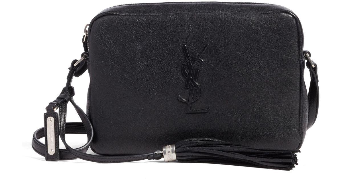 a569b3a533f7 Lyst - Saint Laurent Small Mono Leather Camera Bag -