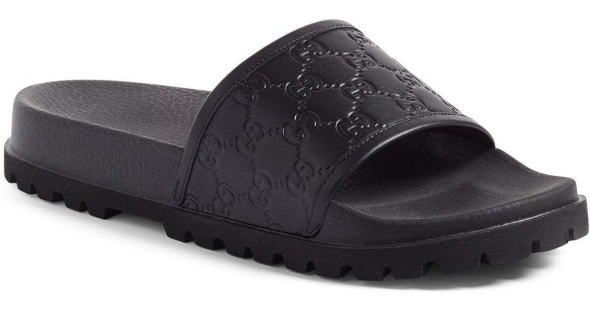 74b974a5a80 Lyst - Gucci  pursuit Treck  Slide Sandal in Black for Men
