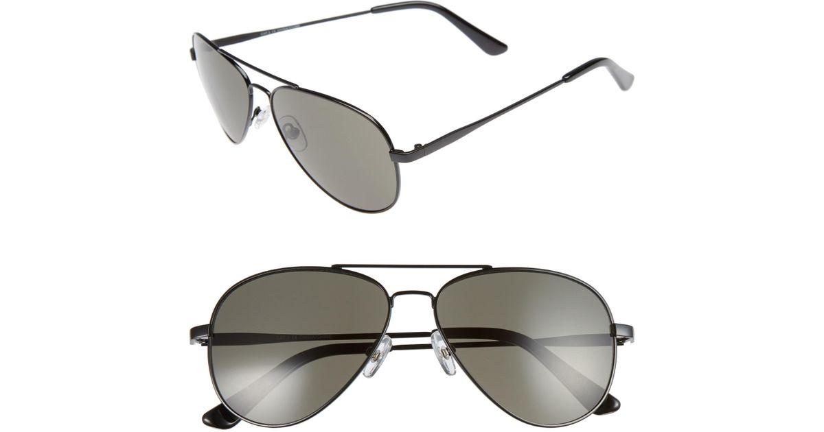 40abb70103f Lyst - Nordstrom 1901 Taylor 58mm Aviator Sunglasses - Gunmetal  Grey in  Gray for Men