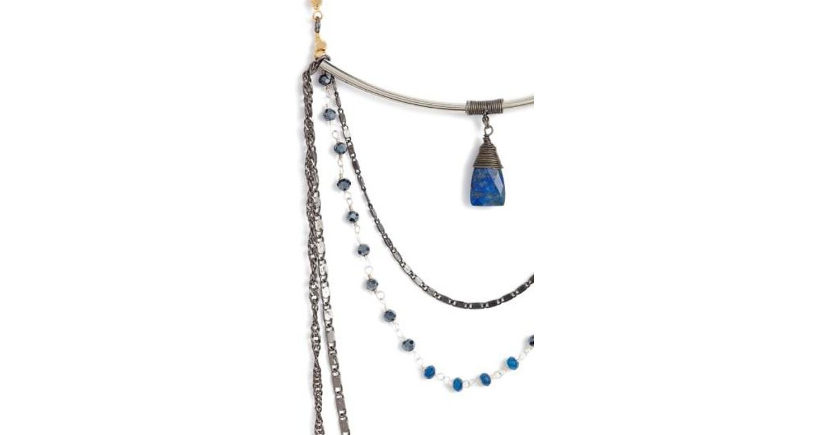 Nakamol Snake Chain Lapis Necklace v95kOk