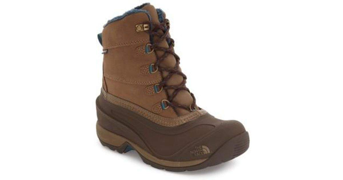 4b6f63bcca4 The North Face - Brown 'Chilkat III' Waterproof Insulated Snow Boot - Lyst