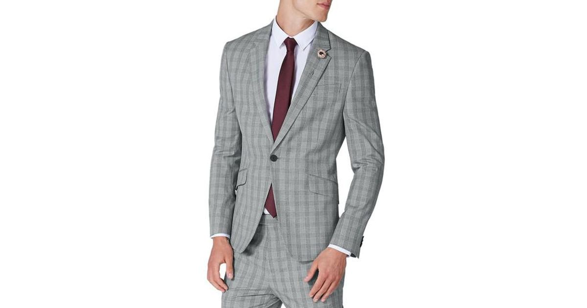 Cheap Release Dates Clearance Fast Delivery Topman Muscle Fit Check Suit Jacket Shop Cheap Online Clearance Shop Offer 2lZymoSR