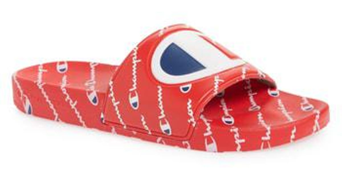 186caf0371839 Lyst - Champion Ipo Repeat Sports Slide in Red for Men
