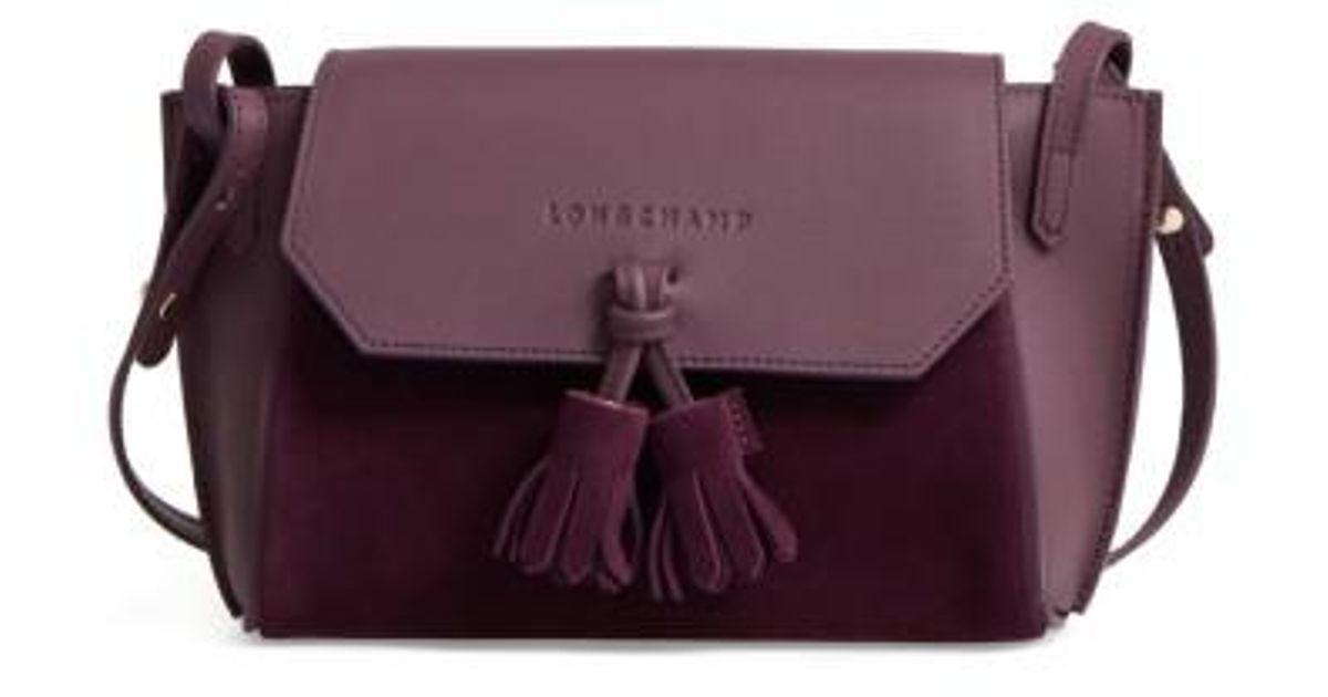 f9d144172f2 Longchamp Small Penelope Leather Crossbody Bag - Purple in Purple - Lyst