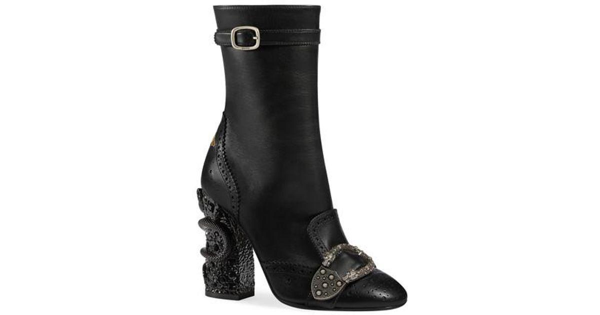 2fbef5b2e42 Lyst - Gucci Queercore Brogue Boot in Black