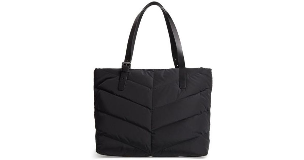 Lyst - Mackage Emmi Quilted Diaper Bag in Black : black quilted diaper bag - Adamdwight.com