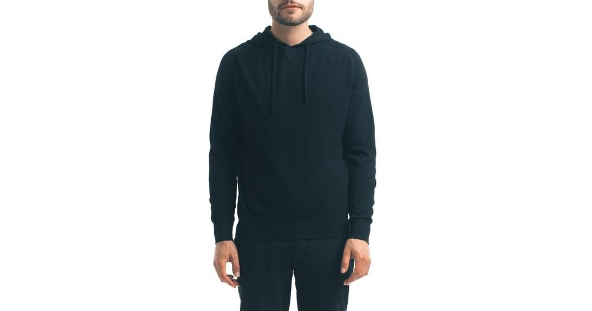 5c43deb9b Good Man Brand - Black Classic Slim Fit Merino Wool Hoodie for Men - Lyst