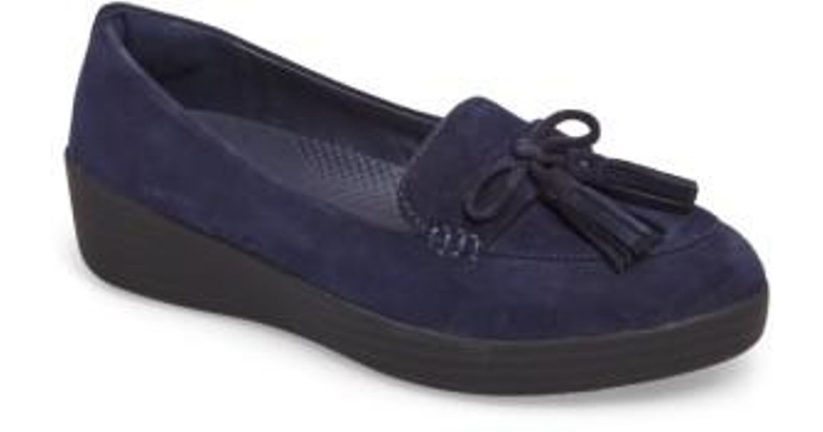 FitFlop Women's Tassel Bow Sneakerloafer(TM) Water Repellent Flat 1nBKCl8mBv