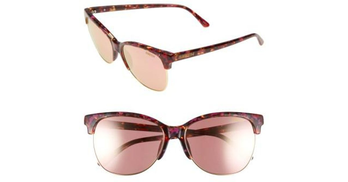 df4c6c0e05 Lyst - Smith  rebel  57mm Cat Eye Sunglasses - in Brown