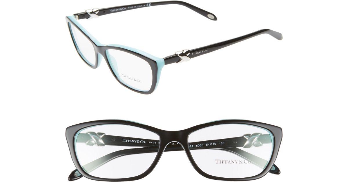 c1a5fbefb4 Lyst - Tiffany   Co 54mm Cat Eye Optical Glasses -