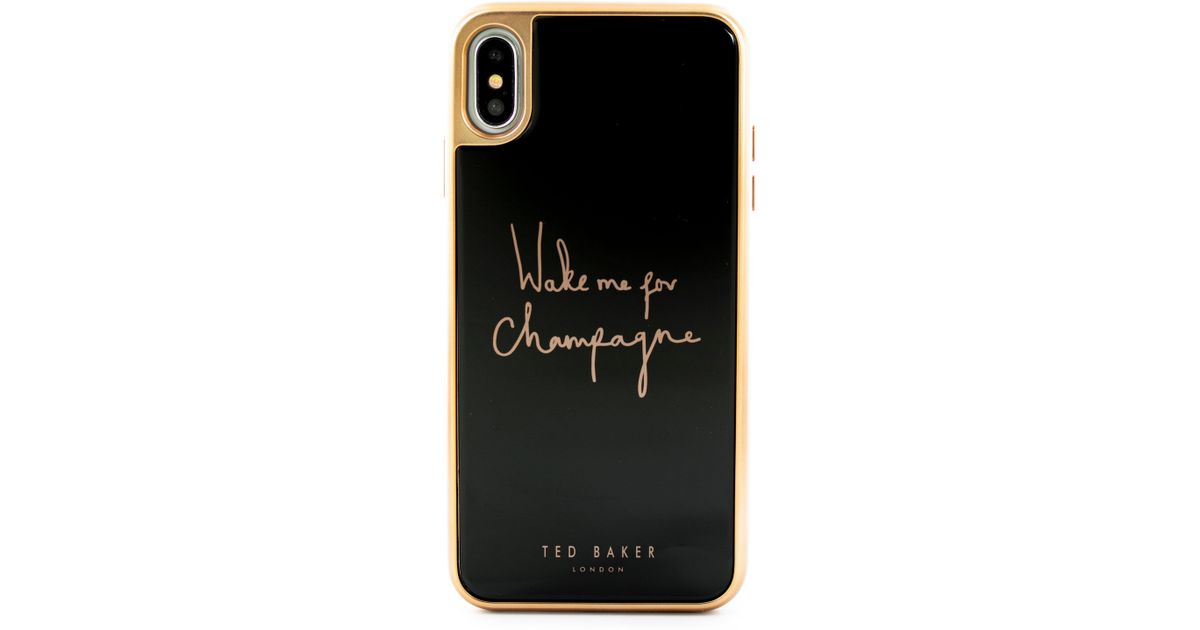 b33c0d9f9 Lyst - Ted Baker Champagne Iphone X xs xs Max   Xr Case in Black
