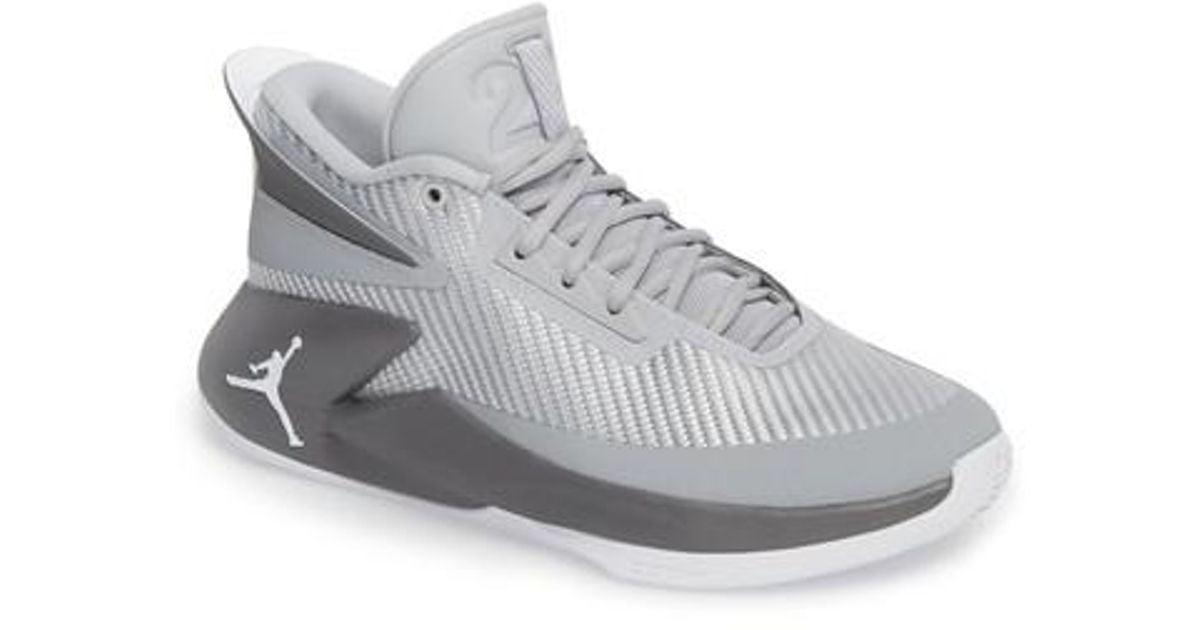 premium selection c42b7 1903e Nike Jordan Fly Lockdown Sneaker in Gray for Men - Lyst
