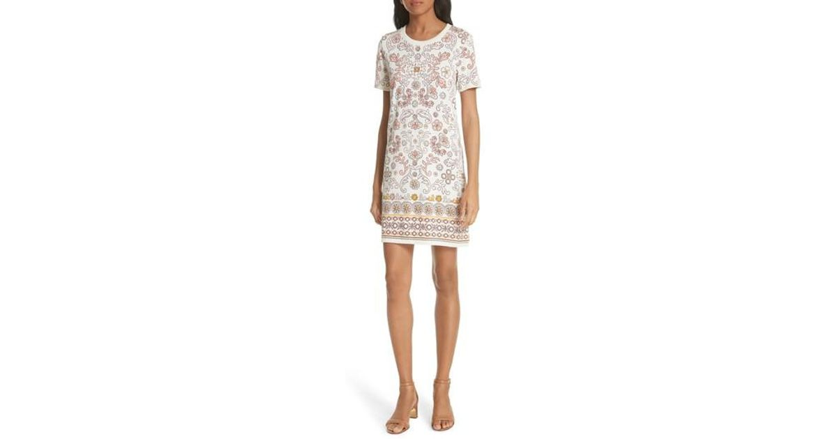 18e0f901362 Lyst - Tory Burch Avril Pima Cotton Dress in White