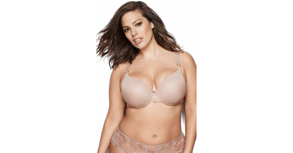 0caa72200bd23 Lyst - Ashley Graham Icon Underwire T-shirt Bra (plus Size) in Natural