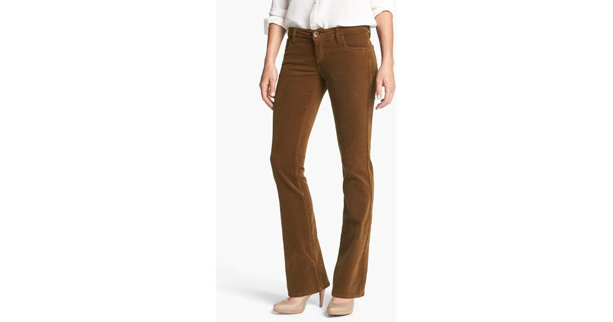 4613a194e53 Kut From The Kloth Baby Bootcut Corduroy Jeans (regular & Petite) in Brown  - Lyst