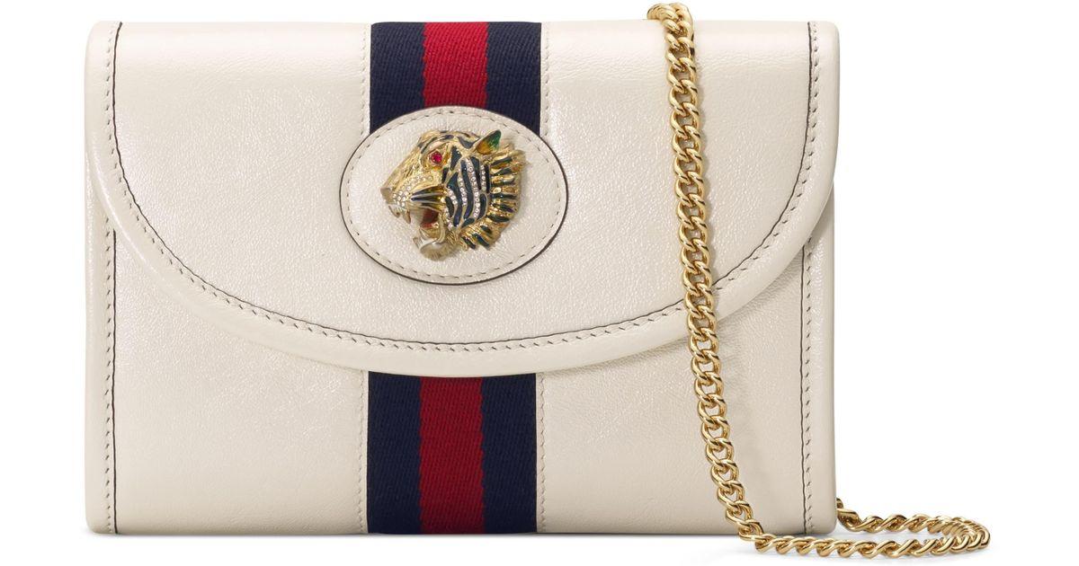 9d2061c2406e80 Gucci Mini Rajah Leather Crossbody Bag - Lyst