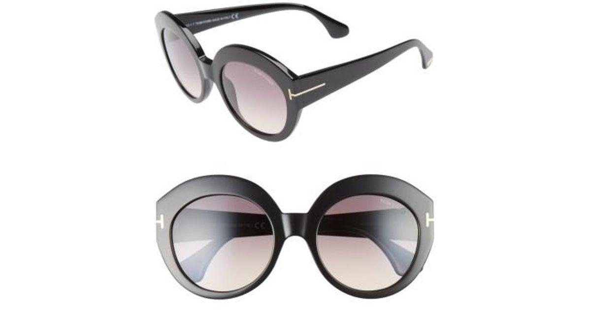 81a20ec61fd Lyst - Tom Ford Rachel 54mm Gradient Lens Sunglasses - Shiny Black  Gradient  Smoke in Black