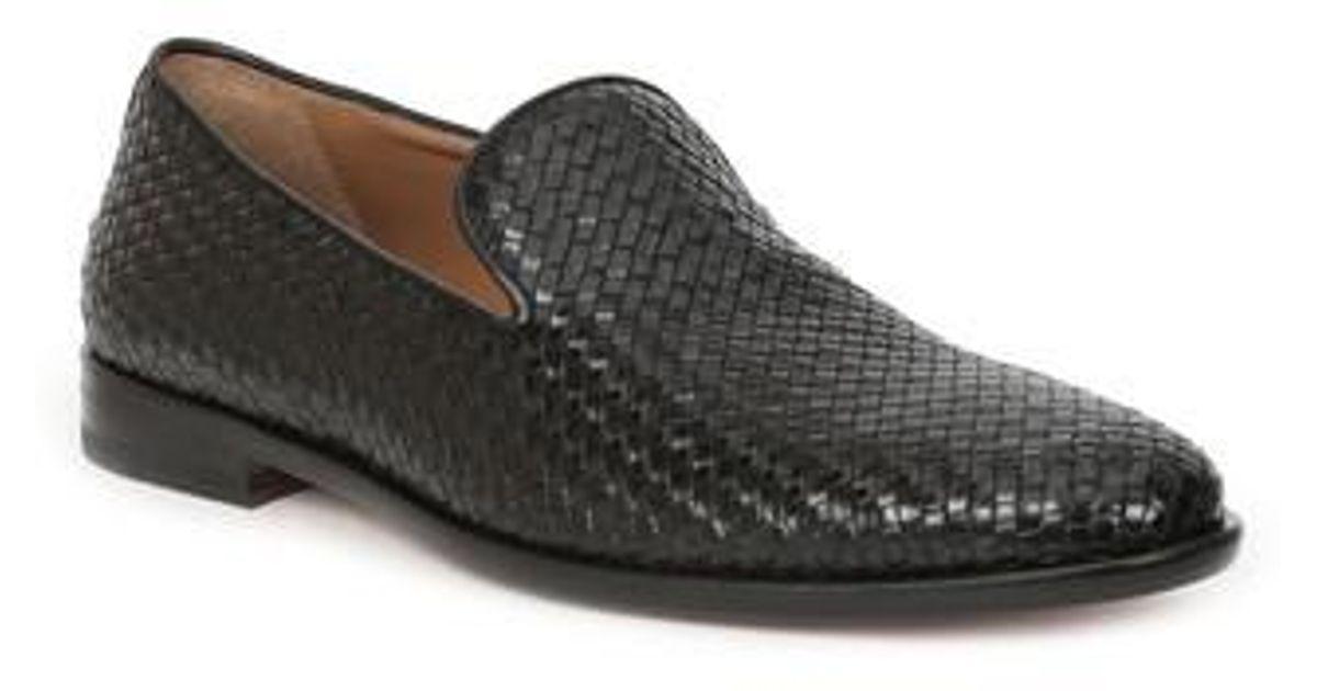 Bruno MagliMen's Picasso Woven Venetian Loafer I3MvTelT