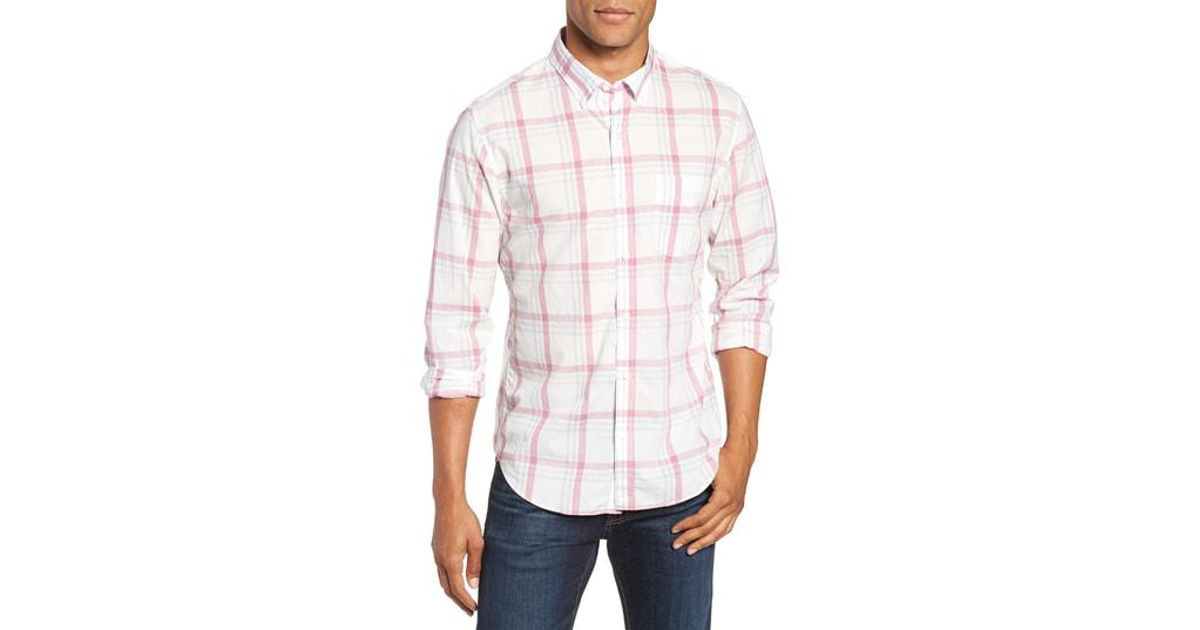 740015119dc7 Lyst - Bonobos Summerweight Slim Fit Plaid Sport Shirt in Pink for Men