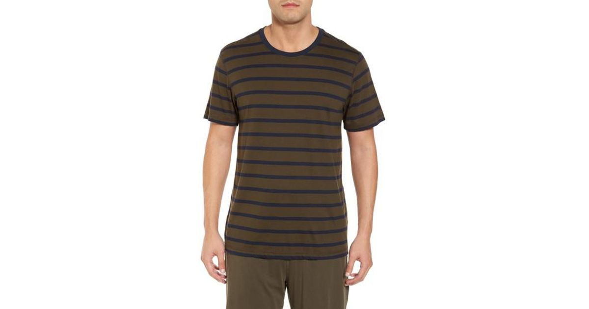 Lyst daniel buchler peruvian pima cotton stripe t shirt for Peruvian cotton t shirts