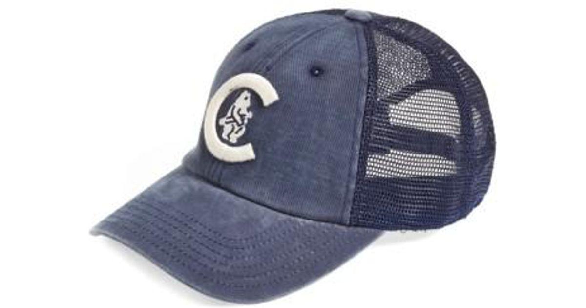525d3e3825c usa lyst american needle chicago cubs raglan bones mesh trucker cap in blue  for men c6693