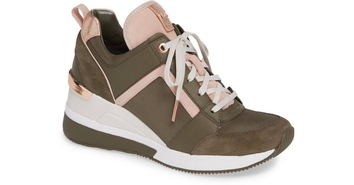 0de2270383f Lyst - MICHAEL Michael Kors Georgie Wedge Sneaker