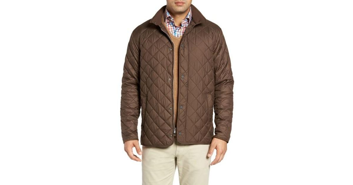 Peter Millar Suffolk Quilted Water Resistant Car Coat In