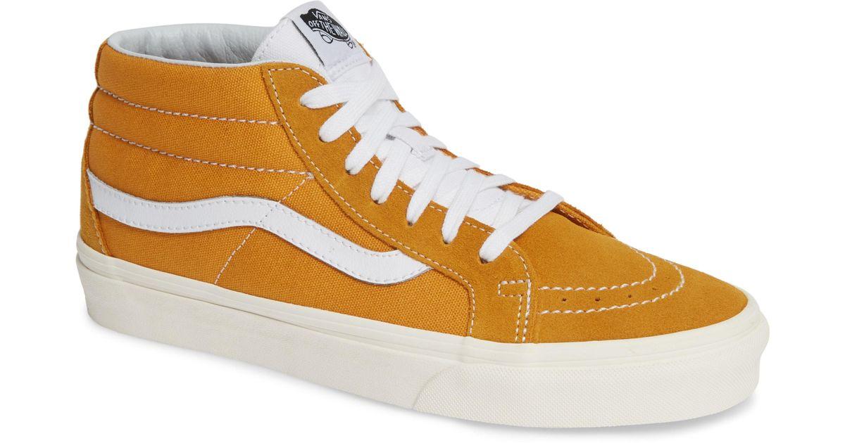 Vans - Yellow Sk8 Hi Mid Reissue Sneakers for Men - Lyst