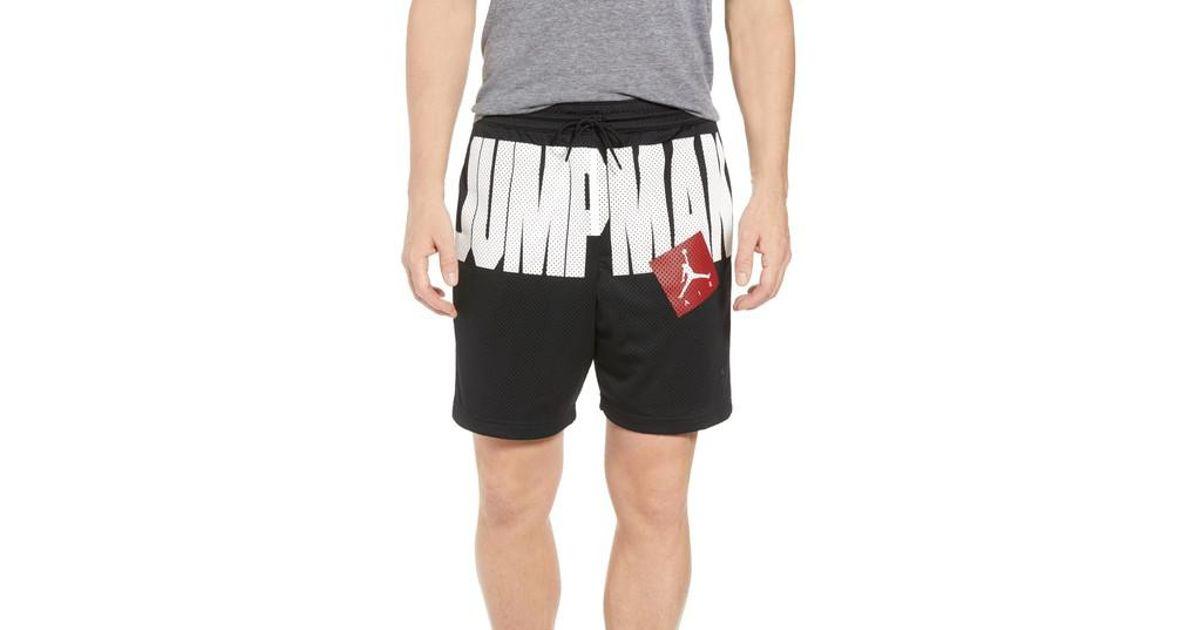 269dc72240cf Lyst - Nike Nike Jumpman Air Mesh Shorts in Black for Men