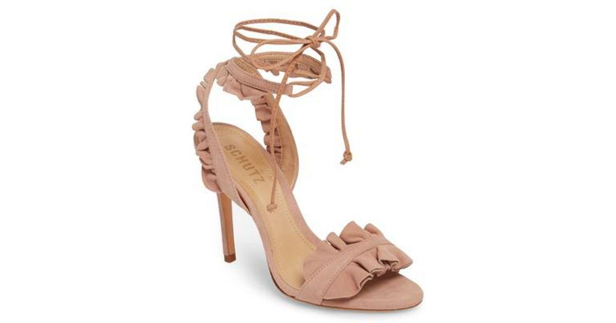 4b5efd5804d6 Lyst - Schutz Irem Lace-up Sandal