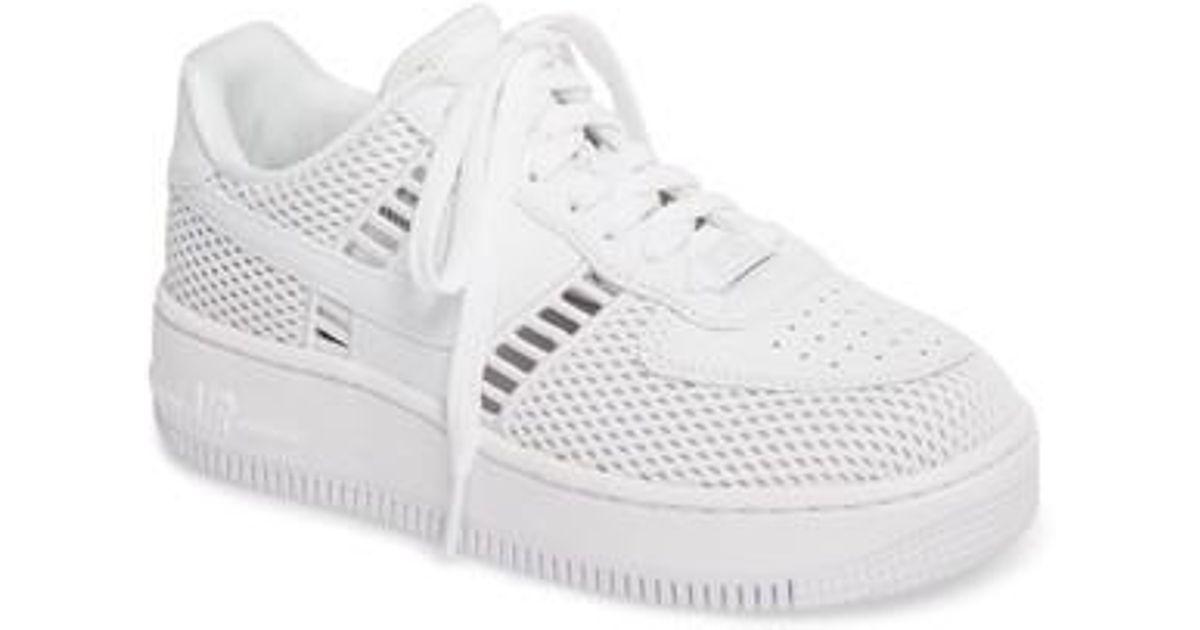 big sale 82bc4 659a0 Lyst - Nike Air Force 1 Upstep Si Mesh Sneaker in White