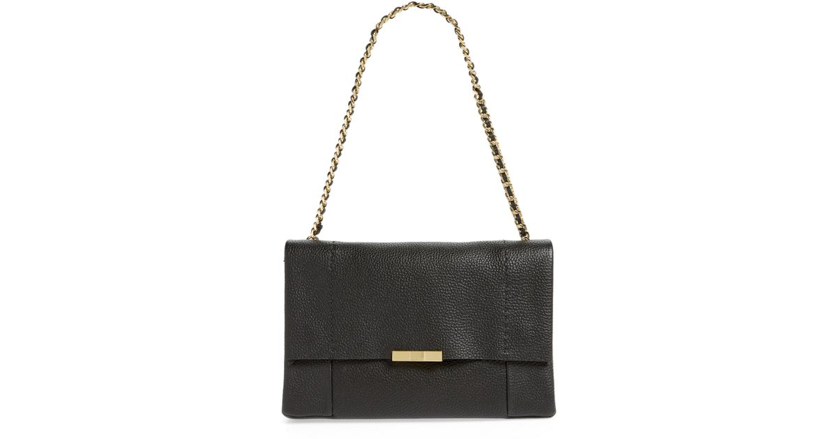 7ef3c1e36 Lyst - Ted Baker Genifer Pebbled Leather Shoulder Bag - in Black