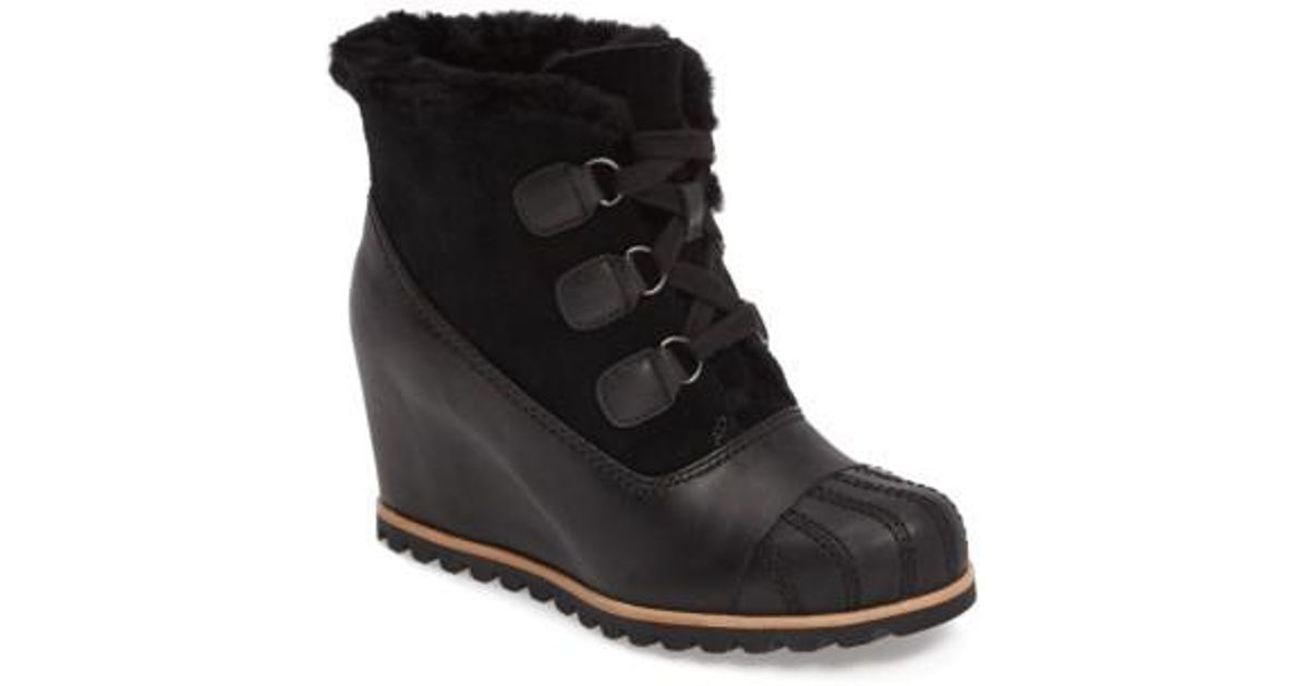 3ee0f8585b8 Lyst - UGG Ugg Alasdair Waterproof Wedge Bootie in Black