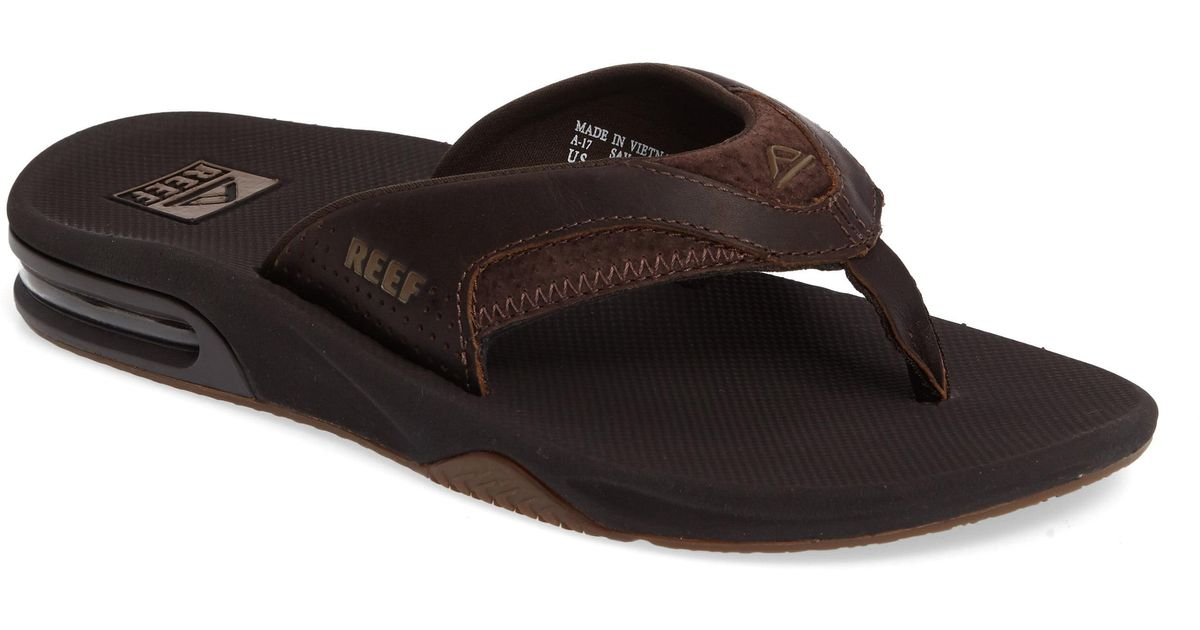 3ab1c7b05bb0 Lyst - Reef  fanning Leather  Flip Flop in Brown for Men