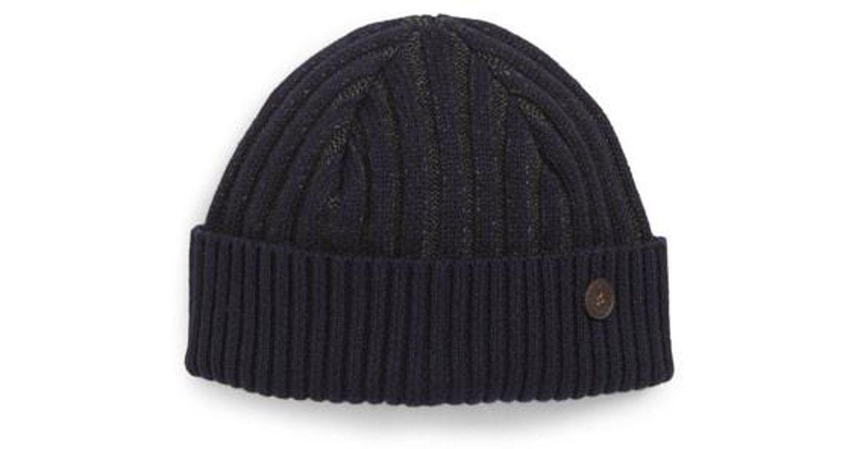 e625459caf9 Lyst - Ted Baker Knitted Interest Hat in Blue for Men