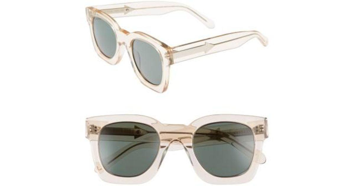 a77a22da64b Lyst - Karen Walker Pablo 50mm Sunglasses - Vintage Clear in Metallic